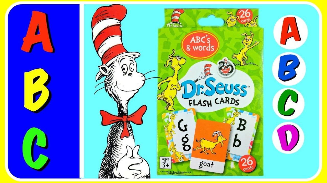 ABC Alphabet Dr Seuss Flash Cards! FUN Educational ABC Alphabet ...
