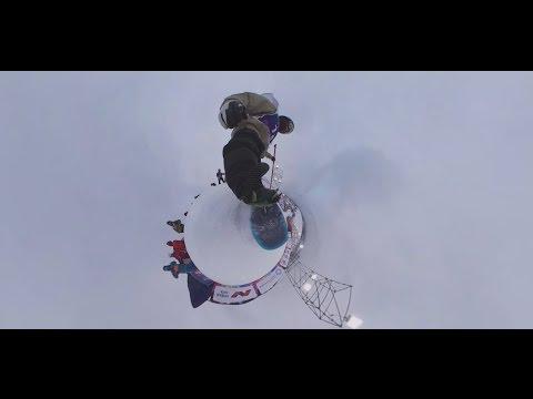 Видео 360 прыжок победителя финала мирового тура по сноуборду Big Air Антона Мамаева
