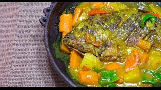 ? Fish Curry - Pinoy Fish Curry - Filipino Fish Curry - Tilapia Curry - Whole fish Recipe - Tagalog