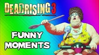 Dead Rising 3 Funny Moments Gameplay 5 - Fat Lady Boss, Huge Bomb, Boxing Match, Best Weapon Ever