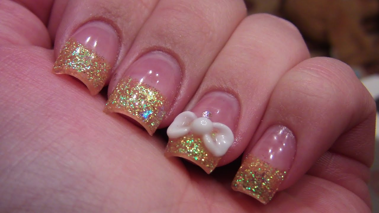 Acrylic nail tutorial 3d bow youtube prinsesfo Image collections