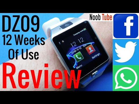 12 Weeks Of Use DZ09 SmartWatch & Camera Android iphone SmartPhone With Facebook, Twitter & Whatsapp