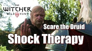 The Witcher 3 Wild Hunt Shock Therapy - Scare the Druid