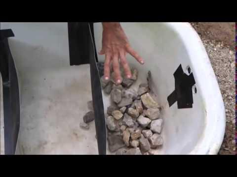 Simple grey-water system using a bathtub