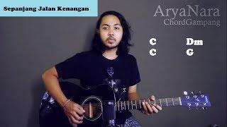 Gambar cover Chord Gampang (Sepanjang Jalan Kenangan - The Rain) by Arya Nara (Tutorial Gitar) Untuk Pemula