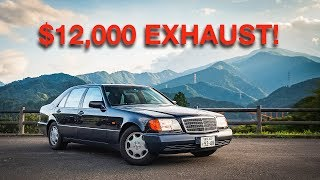 I MADE MY CHEAP MERCEDES SOUND LIKE A F1 RACECAR!  INSANE $12,000 EXHAUST