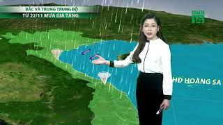 Thời tiết cuối ngày 23h 20/11/2018: 23/11 Bắc và Trung Trung Bộ mưa dông gia tăng ở nhiều nơi|VTC14