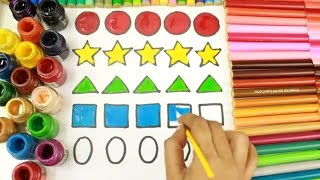 How to Draw Shapes Step By Step and Coloring Shapes for Toddlers