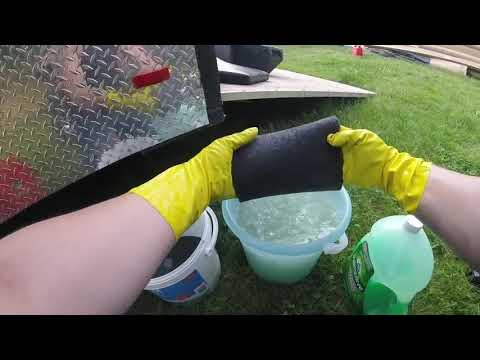 How to clean your ATV air filter with Gasoline!