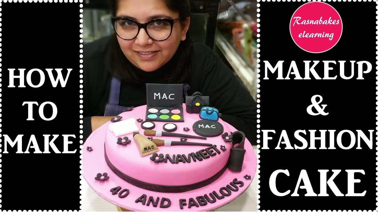 How to make beautiful makeup and Cosmetics cake designbirthday cake  decorating for girls
