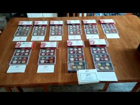 1999-2008 Silver Proof Sets (Red Box) State Quarter Program