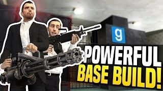 POWERFUL BASE BUILD - Gmod DarkRP | Minigun Base Defense!