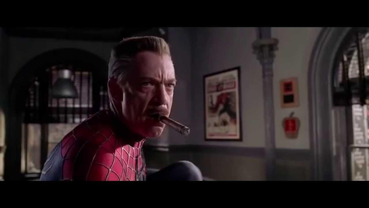 spider man 2.1 extended - j.j. jameson wearing spiderman suit