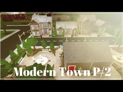 ROBLOX | BloxBurg | Modern Town Speed Build | P-2 |