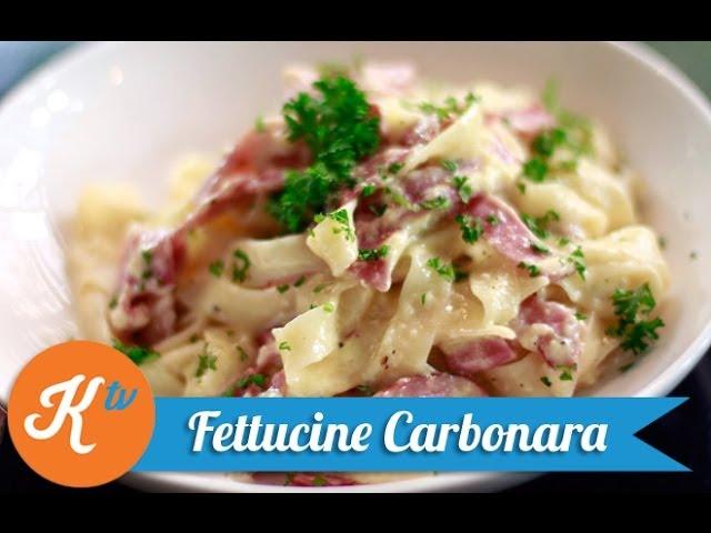 Resep Fettucine Carbonara Fettucine Carbonara Recipe Video Stanley Marcellius Youtube