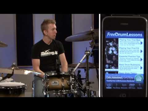 Free Drum Lessons iPhone App Overview