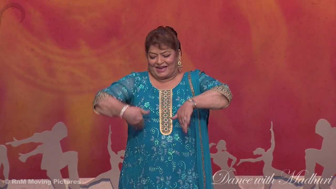 Learn beautiful expressions on Madhuri Dixit's song by Saroj Khan!