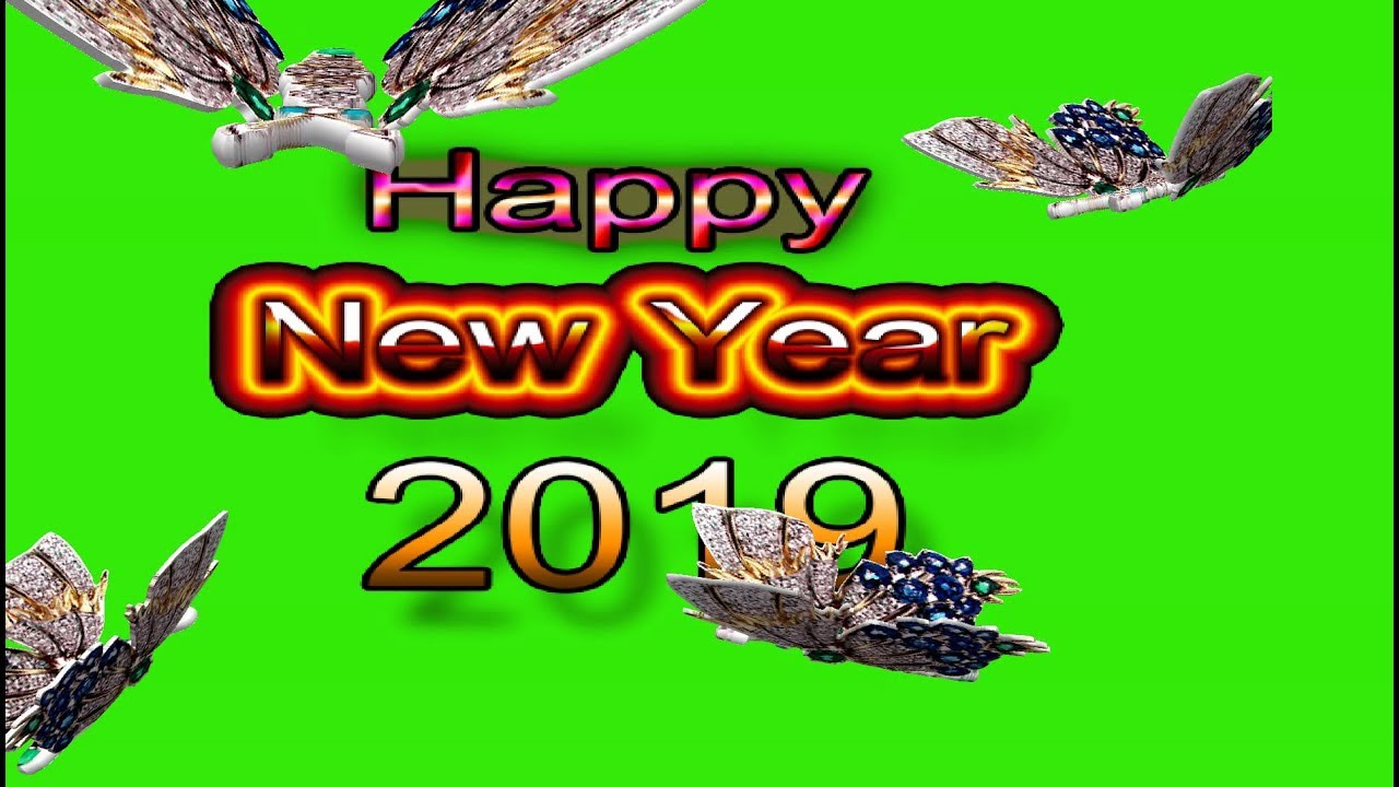 happy new year 2019 wishes new style happy new year 2019 background green screen