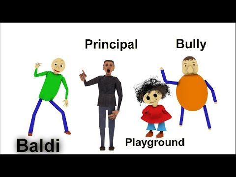 BALDI'S BASIC IN EDUCATION AND LEARNING OST & ALL CHARACTERS IN 3D