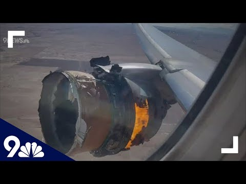 RAW: United Flight 328 Engine Catches Fire The Plane That Feel Apart. WTF!!!