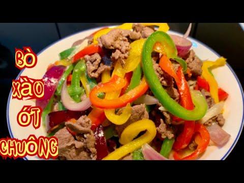 Bò xào ớt chuông_cách ướp và xào cho thịt bò mềm thơm ngon_Bếp Hoa