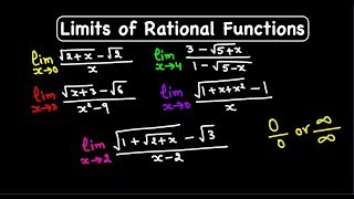 How to find tнe Limits of rational functions ?