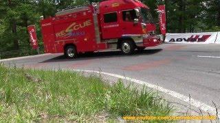 サイレン音を響かせ山岳道路を緊急走行する緊急車両 - 佐久広域消防本部