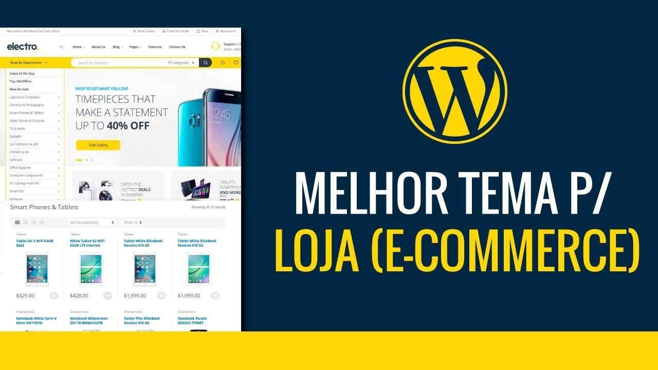 bdd5912edf Electro - Melhor Tema para Loja (e-commerce) WordPress - YouTube