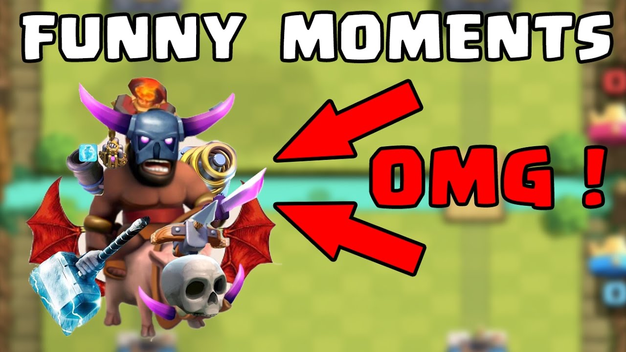 Clash Royale Most Funny Moments Fails Clutches Trolls Compilation Youtube