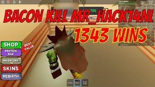 LITTLE BACON KILL MR HACK14NL ,1343 WINS, ROBLOX, BOXING SIMULATOR 2