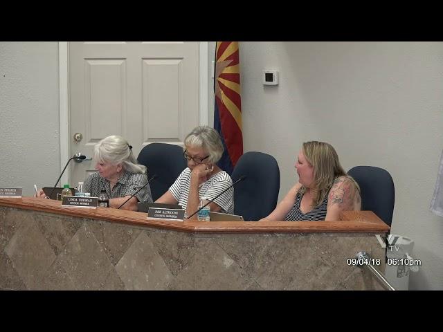 City of Cottonwood regular council meeting September 4 2018