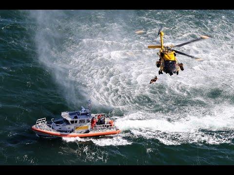 US Coast Guard Rescue Swimmer Hoisting - Air Station Cape Cod