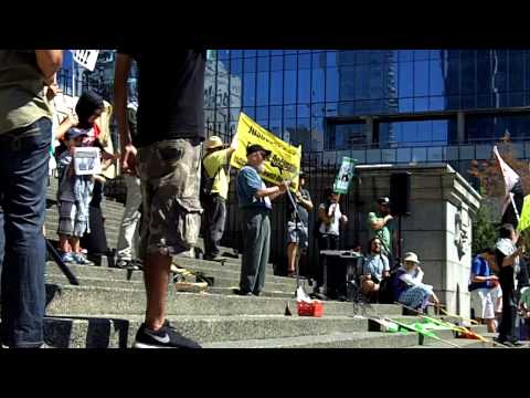 Free Gaza Rally August 2, 2014 Vancouver BC  #1 (Speakers)