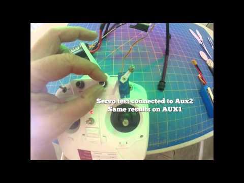 CX-20 Servo Test On AUX1 & AUX2