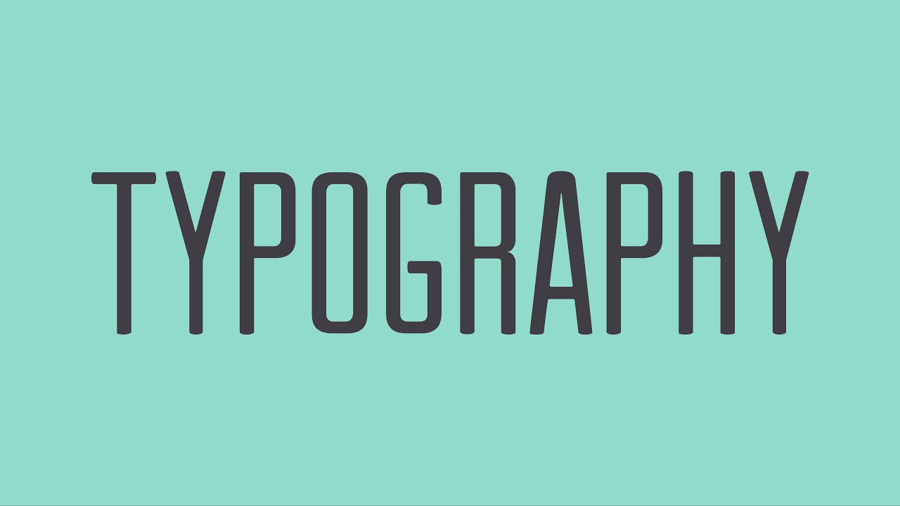 Beginning Graphic Design: Typography - YouTube