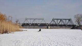 Зимовальная яма. Река Ворскла. Рыбалка в Полтаве