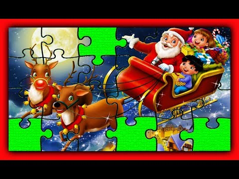 Christmas Song Puzzle Santa Claus Cartoon Animation for Kids