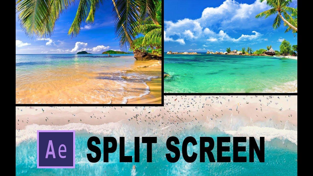 After effects | split screen slide tutorial youtube.