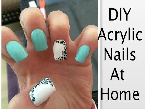 diy clear acrylic nails home