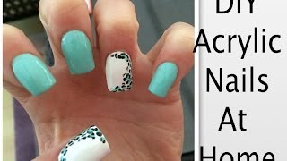 DIY Clear Acrylic Nails At Home!! Thumbnail