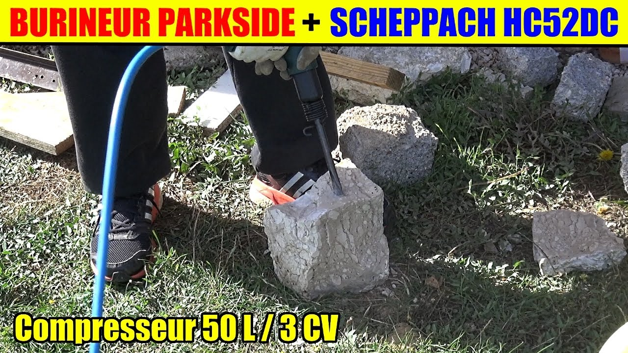 burineur pneumatique parkside lidl et compresseur. Black Bedroom Furniture Sets. Home Design Ideas