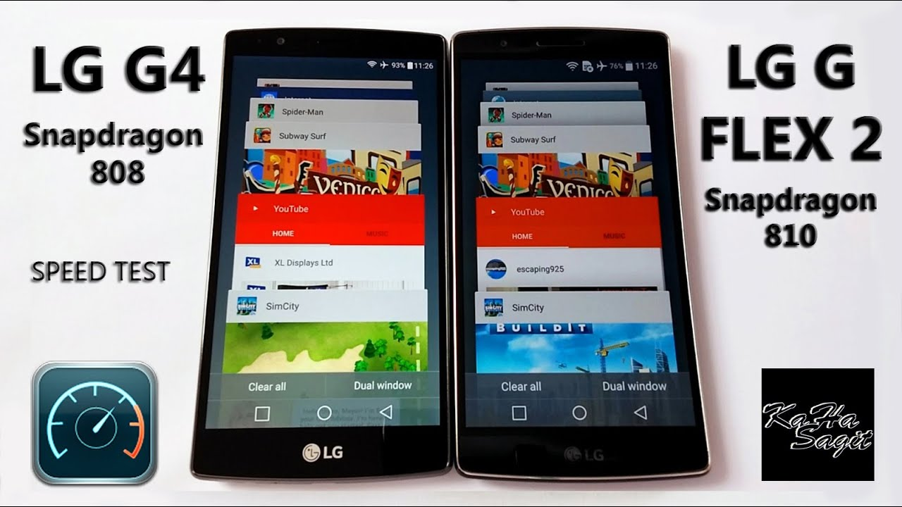 LG G4 Vs LG G FLEX 2 Speed Test