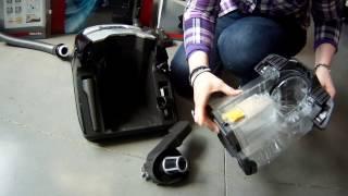 Nettoyage du filtre aspirateur sans sac Miele Blizzard