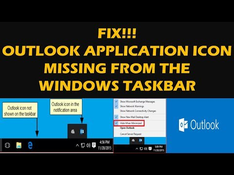 FIX!!! Outlook Application Icon Missing From The Windows Taskbar