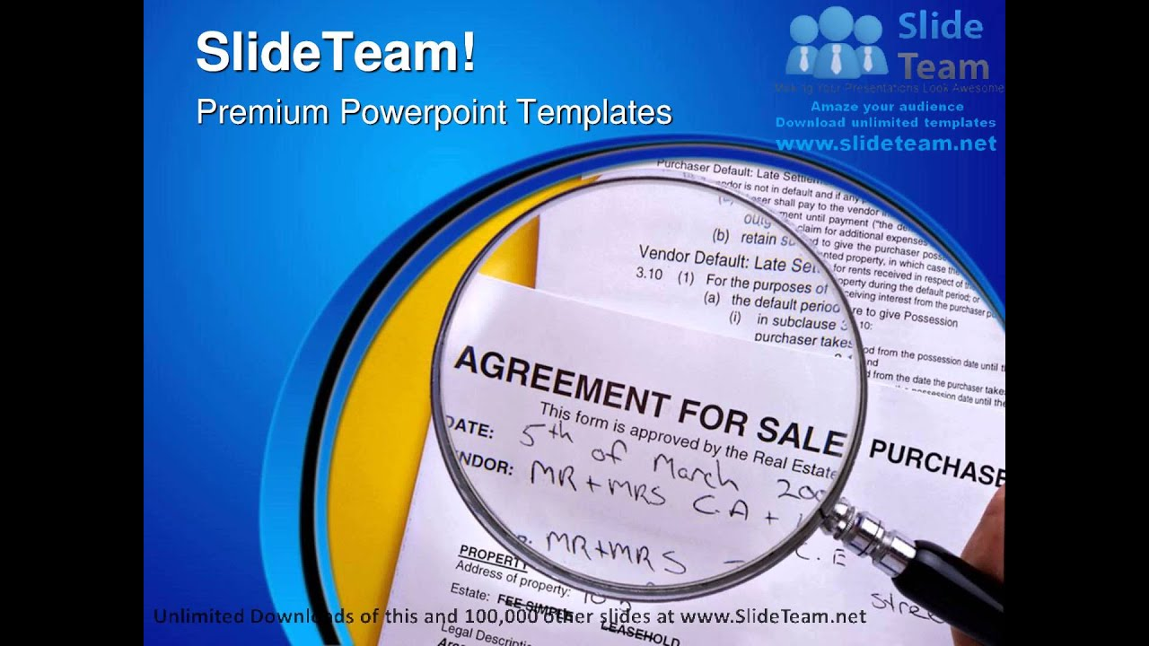 Agreement For Sale Purchase Business PowerPoint Templates Themes And ...