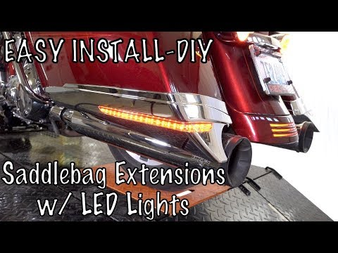How to Install & Wire Ciro 3D Saddlebag Extensions with LED Lights