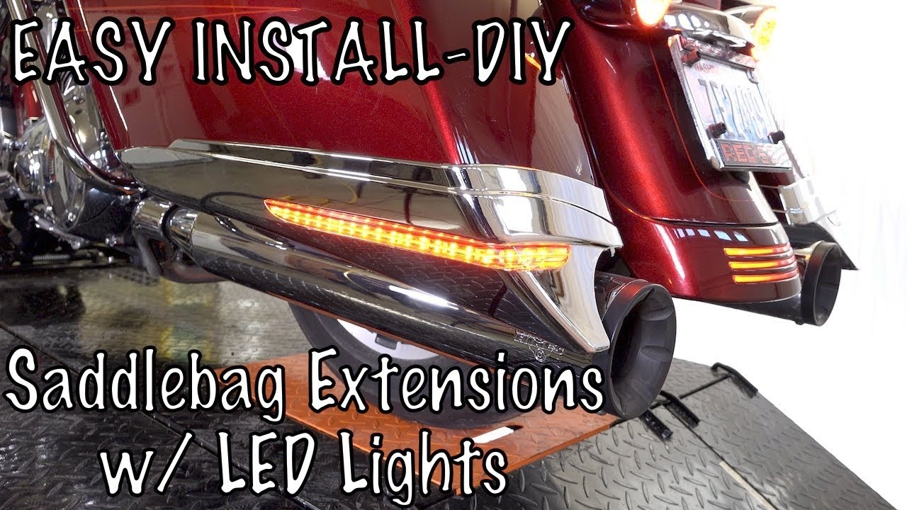 how to install wire ciro 3d saddlebag extensions with led lights [ 1280 x 720 Pixel ]