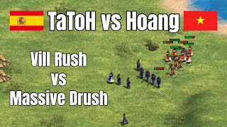 TaToH vs Hoang | Vill Rush vs Massive Drush: Pure Madness | Age of Empires 2 Definitive Edition