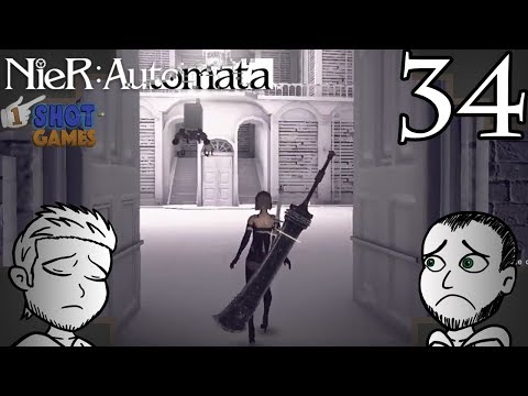 1ShotPlays - NieR Automata Part 34 - The Tower Might Suffice