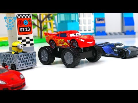 Thumbnail: Cars 3 McQueen cartoon stop motion - Minions, Cars Mcqueen toys video for kids